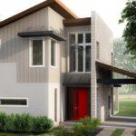 บ้านสองชั้น สไตล์โมเดิร์น ขนาดกะทัดรัด 2 ห้องนอน พร้อมพื้นที่พักผ่อนขนาดใหญ่