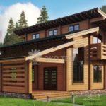แบบบ้านไม้สองชั้นทรงโมเดิร์น ดีไซน์หลังคาแบบเล่นระดับ อบอุ่นอย่างเป็นธรรมชาติ
