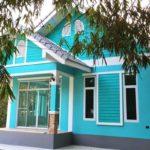แบบบ้านชั้นเดียวโทนสีฟ้า สวยงามสบายตา สดใสที่ภายนอก อ่อนโยนที่ภายใน