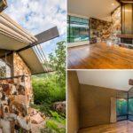 บ้านตากอากาศโครงสร้างเหล็ก บิวท์อินภายในสวยงาม รองรับการพักผ่อนที่อิงแอบธรรมชาติ
