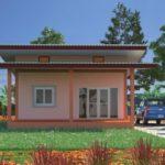 บ้านโทนสีส้มสไตล์โมเดิร์น รูปลักษณ์ทันสมัย สร้างง่ายน่าอยู่ ด้วยงบไม่เกิน 6 แสนบาท