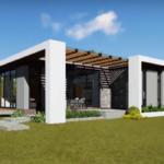 สร้างบ้านตามแนวคนรุ่นใหม่ ด้วยแบบบ้านสไตล์โมเดิร์น รูปทรงเลขาคณิตสุดเฉียบ