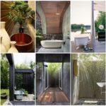 สุดยอดพื้นที่อาบน้ำกลางแจ้ง 45 ไอเดีย ตกแต่งเรียบง่ายด้วยสวนเขตร้อน รองรับการพักผ่อนรูปแบบใหม่