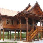 แบบบ้านไม้เรือนไทยประยุกต์ ยกพื้นสูงมีใต้ถุน สถาปัตยกรรมไทยดั้งเดิมอันสง่างาม