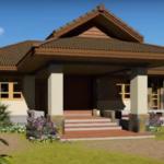 บ้านชั้นเดียวสไตล์คอนเทมโพรารี่ 3 ห้องนอน เน้นการออกแบบที่เรียบง่าย คลาสสิค ดูอบอุ่น