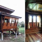 บ้านไม้ทรงไทยยกสูง หลังคาเพิงหมาแหงน บรรยากาศแบบกระท่อมปลายนา สร้างได้ในงบประมาณไม่เกิน 200,000 บาท