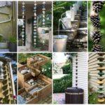 """20 ไอเดีย DIY """"รางน้ำฝน"""" จากของใกล้ตัว ตกแต่งร่วมกับการจัดสวนหย่อม สวยงามและได้ประโยชน์ไปในตัว"""