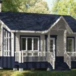 แบบบ้านสวนสไตล์คอทเทจ หลังเล็กกะทัดรัด ตกแต่งน่ารัก ด้วยงานไม้ พร้อม 1 ห้องนอน 1 ห้องน้ำ