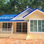 บ้านชั้นเดียวสีเหลือง หวานละมุน 2 ห้องนอน 1 ห้องน้ำ สร้างได้ด้วยงบเพียง 630,000 บาท