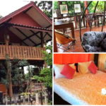 บ้านไม้ชั้นเดียว ยกพื้นสูง มีใต้ถุนสำหรับพักผ่อน คงไว้ในแบบของสถาปัตยถกรรมไทย