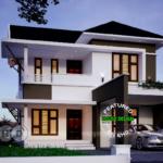 บ้านเดี่ยวสองชั้น สไตล์ร่วมสมัย ออกแบบเรียบหรู มีความภูมิฐาน เข้ากับครอบครัวสมัยใหม่