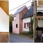 บ้านไม้สองชั้น ขนาดเล็กกะทัดรัด สไตล์มินิมอล โชว์โครงสร้างไม้ จัดสรรพื้นที่ภายในคุ้มค่า