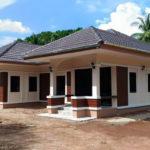 บ้านแฝดชั้นเดียว หลังคาทรงปั้นหยา 3 ห้องนอน 1 ห้องน้ำ สวยงามเรียบง่าย ในทุกมุมมอง