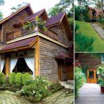 บ้านไม้หลังใหญ่บนเนินเขา สไตล์คันทรี ตกแต่งด้วยงานไม้ทั้งหลัง รองรับการพักผ่อนที่ร่มรื่นด้วยธรรมชาติ