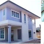 บ้านสองชั้น สีฟ้าอ่อนหวาน น่ารัก สไตล์โมเดิร์น สะท้อนความเป็นตัวเองได้อย่างน่าหลงใหล