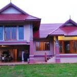 แบบบ้านไทยประยุกต์ยกพื้นสูง โทนสีชมพูสดใส ภายใต้เสน่ห์แบบดั้งเดิม