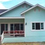 บ้านชั้นเดียว สีเขียวอ่อนหวานละมุน 3 ห้องนอน 2 ห้องน้ำ สร้างได้ด้วยงบเพีบง 830,000 บาท