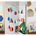 26 ไอเดียตกแต่งผนัง DIY สร้างงานฝีมือ รูปทรงเรขาคณิต เพิ่มสีสันให้แก่ภายในบ้าน ในงบประมาณประหยัด