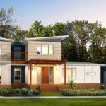บ้านสองชั้นหลังใหญ่ เน้นรูปทรงโดดเด่น มาพร้อมหลังคาทรงปีกนก ดีไซน์เฉียบ