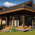 แบบบ้านแนวร่วมสมัยทรงมนิลา สร้างความโปร่งโล่งด้วยผนังกระจก พร้อมเฉลียงพักผ่อนรอบบ้าน