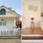 บ้านไม้สีขาวสไตล์ยุโรป ออกแบบเน้นน่ารักอบอุ่น อ่อนละมุนทุกห้วงสัมผัส