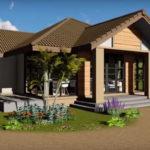 แบบบ้านชั้นเดียวแนวโมเดิร์นทรอปิคอล โปร่งสบายด้วยงานกระจก เหมาะสำหรับสร้างเป็นบ้านสวน