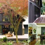 บ้านไม้โทนสีดำ ชั้นเดียว มีชานบ้านขนาดกว้าง และการตกแต่งภายในที่สวยงาม เรียบง่าย น่าอยู่