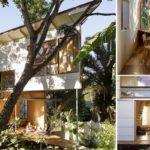 บ้านสวนดีไซน์เจ๋ง รูปทรงสามเหลี่ยม กะทัดรัดแต่โปร่งโล่ง เชื่อมโยงธรรมชาติเข้ากับการพักผ่อน