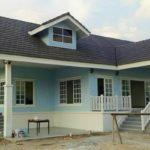 บ้านแนวยุโรป สไตล์วินเทจ สีฟ้าอ่อนหวาน ออกแบบได้น่ารัก สะดุดตา อบอุ่นในพื้นที่กะทัดรัด