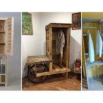 """รวม 26 ไอเดีย """"ตู้เสื้อผ้าจากลังไม้เก่า"""" สร้างเฟอร์นิเจอร์ไว้ใช้งานแทนการซื้อ ประหยัดได้อีก"""