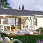 บ้านเดี่ยวท้ายสวน ดีไซน์ร่วมสมัย ขนาดเล็กกะทัดรัด ตกแต่งเพียงน้อย รองรับครอบครัวแรกเริ่ม