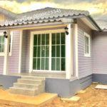บ้านโครงเหล็กแต่งผนังไม้โทนสีละมุน 2 ห้องนอน 1 ห้องน้ำ สร้างได้ด้วยงบเพียง 580,000 บาท