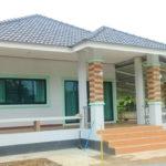 บ้านชั้นเดียวดีไซน์สวยทันสมัย 2 ห้องนอน ก่อสร้างเสร็จใน 3 เดือน งบประมาณ 840,000 บาท (ก่อสร้างที่เชียงราย)