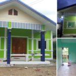 แบบบ้านร่วมสมัย โทนสีเขียวสดใส สะดุดตา 2 ห้องนอน 1 ห้องน้ำ 67 ตารางเมตร สร้างได้ด้วยงบ 6 แสนบาท