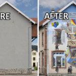 ศิลปินชาวฝรั่งเศส เปลี่ยนผนังอาคารว่างเปล่า ให้กลายเป็นงานศิลปะภาพสมจริงอันน่าทึ่ง