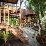 บ้านพักตากอากาศกลางป่า สไตล์รัสติก พร้อมชานบ้านเพื่อการพักผ่อน สวรรค์บนดินที่สัมผัสได้