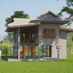 แบบบ้านชั้นเดียว ยกพื้นสูง แนวไทยประยุกต์ เน้นประหยัดงบประมาณ พร้อมใต้ถุนบ้านสุดคลาสิค