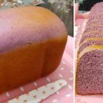 """กดเพียงปุ่มเดียวก็จะได้ """"ขนมปังมันม่วง"""" ฉบับโฮมเมด อร่อยง่ายๆ ใช้แค่เครื่องทำขนมปัง"""