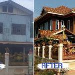 รีโนเวทบ้านไม้หลังเก่าสองชั้น เปลี่ยนบ้านโทรมให้กลายเป็นบ้านสวยสไตล์ไทยประยุกต์