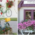 """40 ไอเดีย จัดสวนด้วย """"จักรยานเก่า"""" สร้างสรรค์ความน่ารักแบบวินเทจ"""