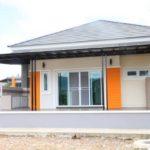 บ้านชั้นเดียวแนวโมเดิร์นทรอปิคอล ดีไซน์โดดเด่น สะดุดตา 3 ห้องนอน 2 ห้องน้ำ งบประมาณ 2.1 ล้านบาท