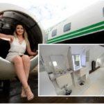 ไอเดียเจ๋ง หญิงสาวทุ่มเงิน 1.3 ล้านบาท ดัดแปลงเครื่องบินให้กลายเป็น 'ร้านเสริมสวยสุดหรู'