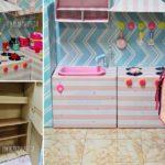 DIY 'ครัวของเล่นจากลังกระดาษ' ของขวัญสุดน่ารักสำหรับลูกน้อย ในงบไม่เกิน 500 บาท