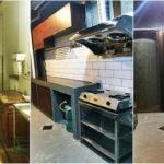 รีโนเวทห้องครัวขนาดเล็ก เปลี่ยนพื้นที่หลังทาวน์เฮาส์ว่างๆ ให้กลายเป็นครัวสวยทันสมัยสไตล์โมเดิร์น