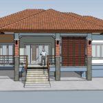 แบบบ้านชั้นเดียวยกพื้น สไตล์คอนเทมโพรารี 2 ห้องนอน 2 ห้องน้ำ ใช้งบสร้างเพียง 1.6 ล้านบาท