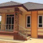 บ้านร่วมสมัย โทนสีส้มอ่อนดูละมุน อบอุ่นแต่แรกเห็น 2 ห้องนอน 1 ห้องน้ำ