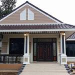 แบบบ้านชั้นเดียวโทนสีน้ำตาล สไตล์วินเทจ มีสเน่ห์ 3 ห้องนอน 2 ห้องน้ำ งบประมาณก่อสร้าง 950,000 บาท (ก่อสร้างที่จังหวัดตาก)