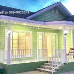 แบบบ้านชั้นเดียวดีไซน์น่ารัก โทนสีเขียวละมุน 2 ห้องนอน 1 ห้องน้ำ งบประมาณก่อสร้าง 890,000 บาท