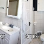 มาดูการรีโนเวทห้องน้ำไซส์เล็ก เปลี่ยนจากห้องน้ำเก่าแสนน่าเบื่อ ให้สวยเท่ทันสมัย ใต้โทนสีขาวดำ