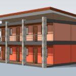 แบบหอพักเพื่อการลงทุน ขนาด 6 ห้องนอน เปลี่ยนที่ดินให้เป็นกำไร ด้วยงบประมาณย่อมเยา